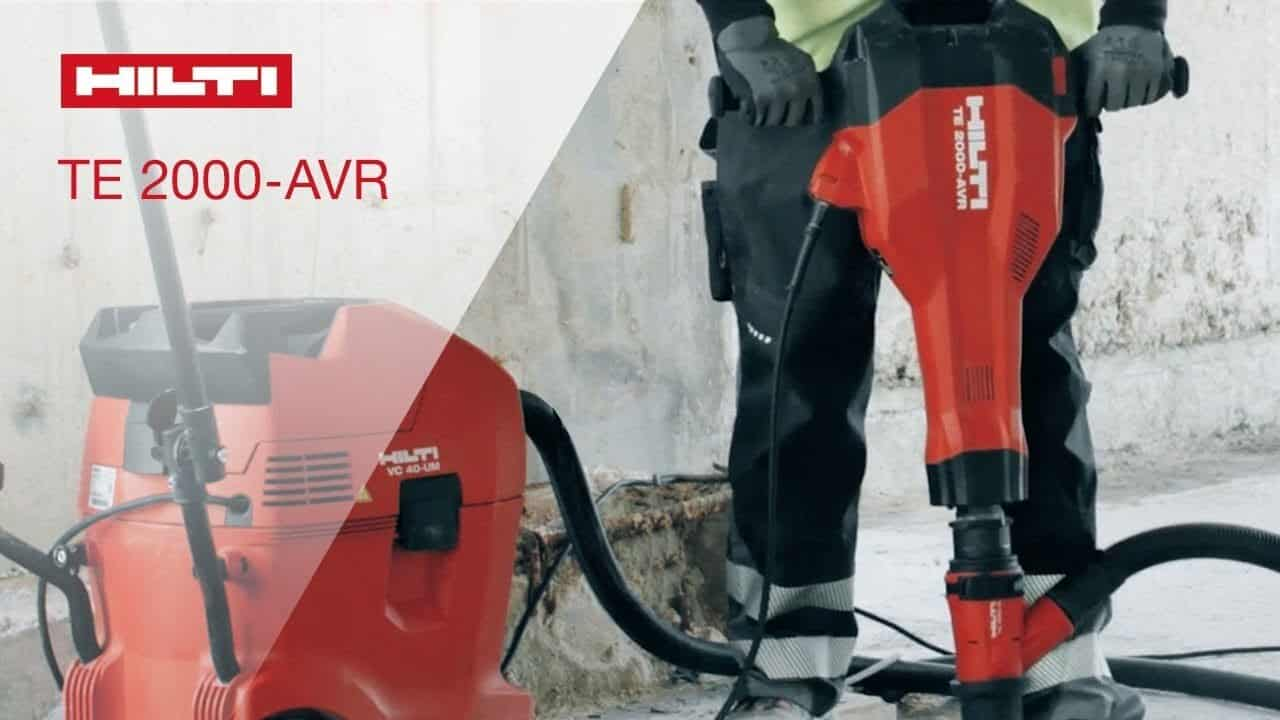 Hilti TE-2000 AVR Jack Hammer - With Dust Extractor (Carpet Removal Sydney)